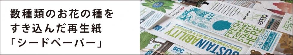 シードペーパーは数種類のお花の種をすきこんだ、環境にやさしいリサイクルペーパーです。